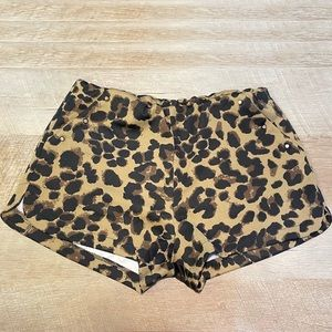 Edge Leopard Print Stretchy Shorts